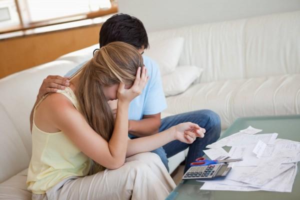 financial stress money debt